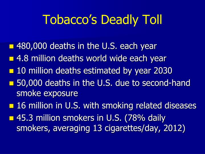 Tobacco's Deadly Toll