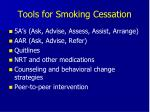 tools for smoking cessation