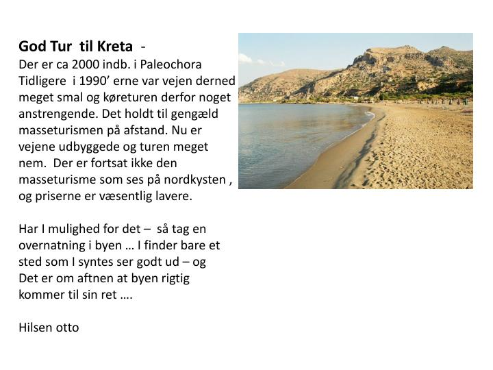 God Tur  til Kreta