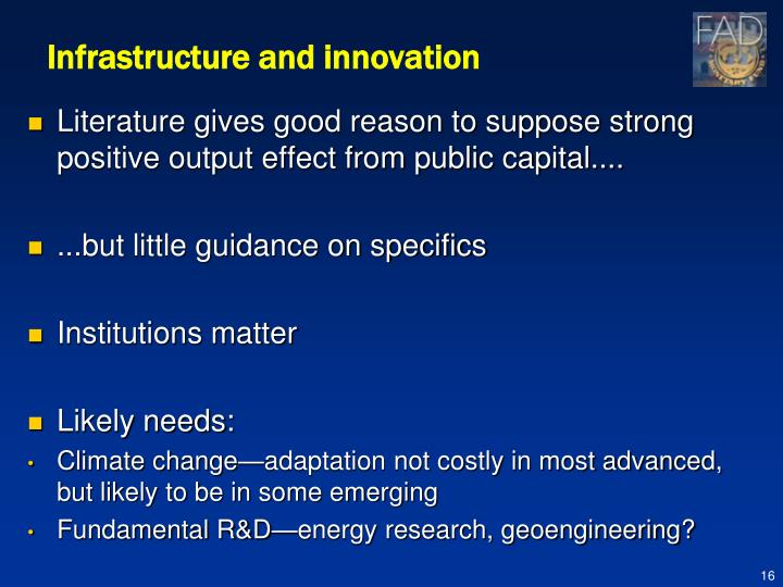 Infrastructure and innovation