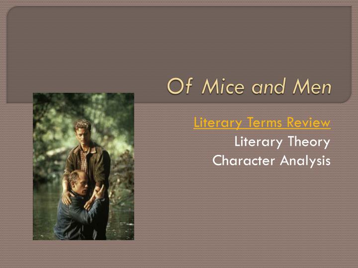 allegory of mice and men