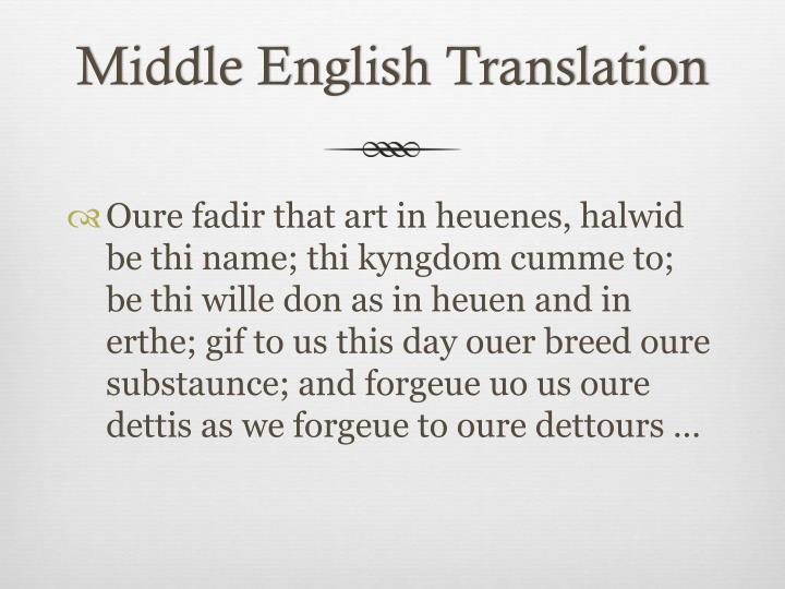 Middle English Translation