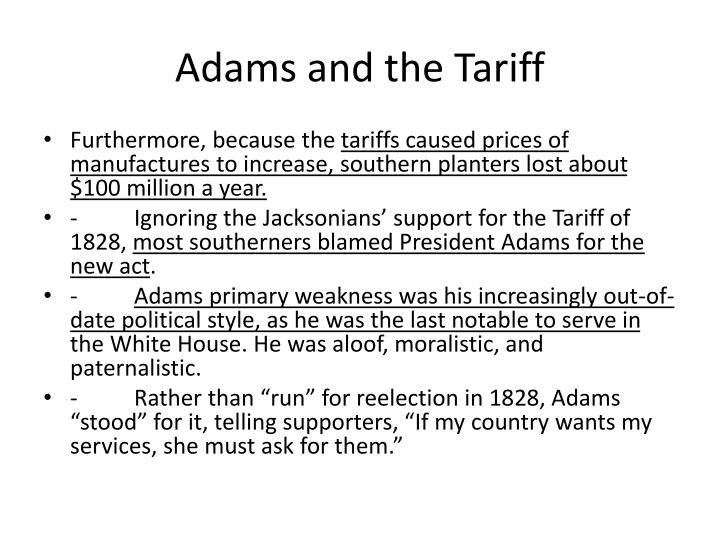 Adams and the Tariff