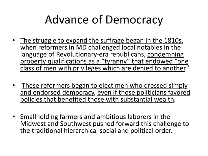 Advance of Democracy
