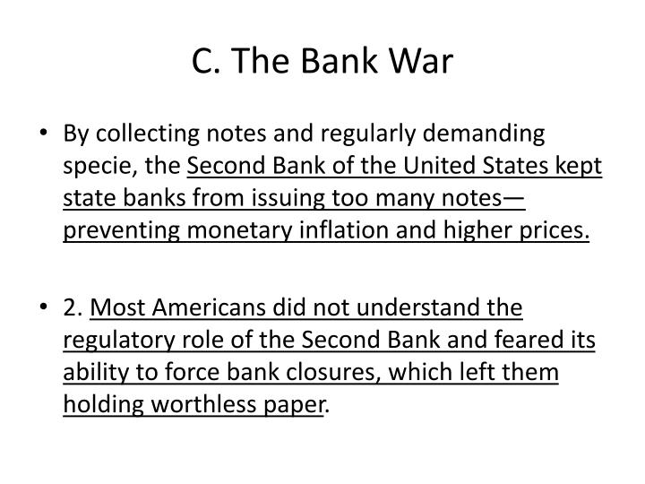 C. The Bank War