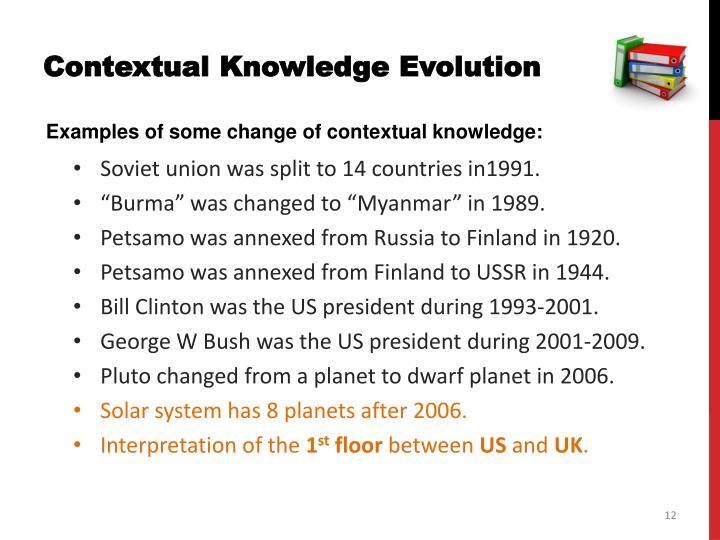 Contextual Knowledge Evolution