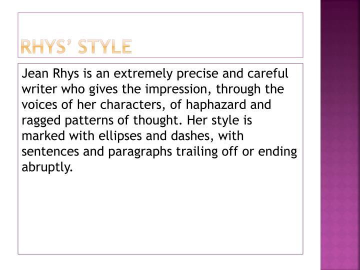Rhys' Style