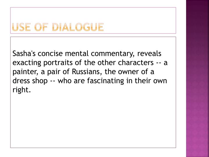 Use of dialogue