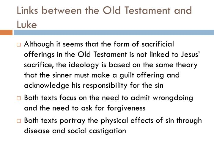 Links between the Old Testament and Luke