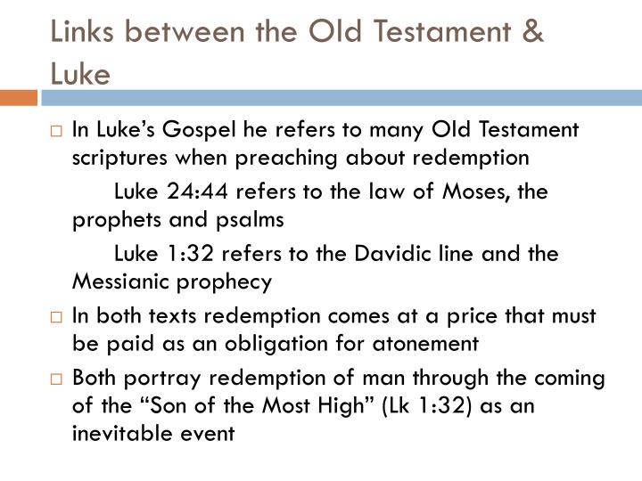 Links between the Old Testament & Luke