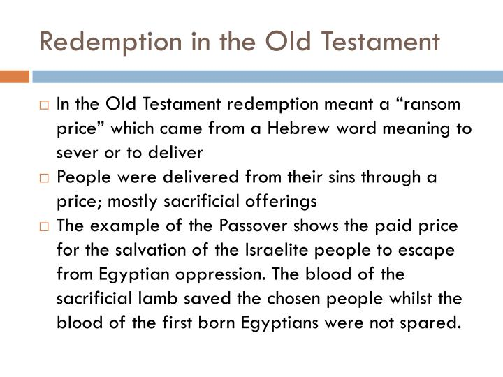 Redemption in the Old Testament