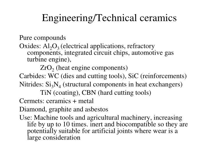 Engineering/Technical ceramics