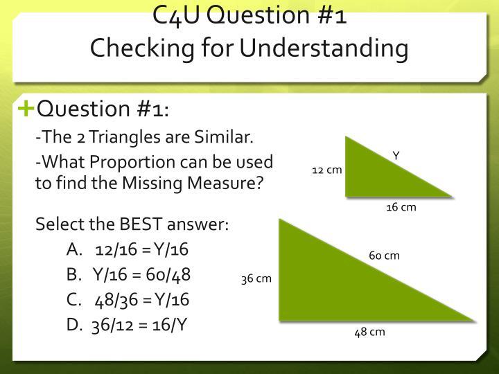 C4U Question #