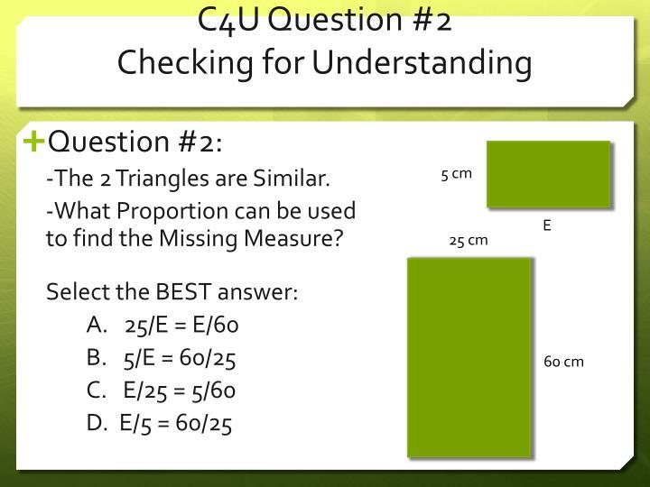 C4U Question
