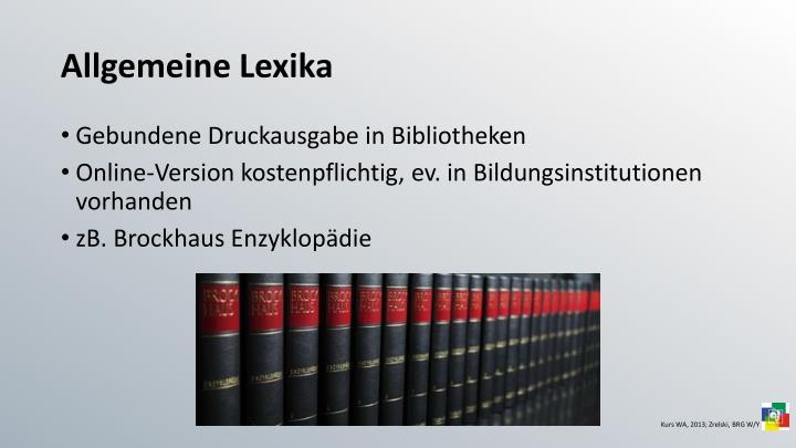 Allgemeine Lexika