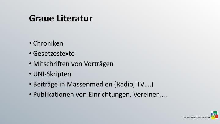 Graue Literatur