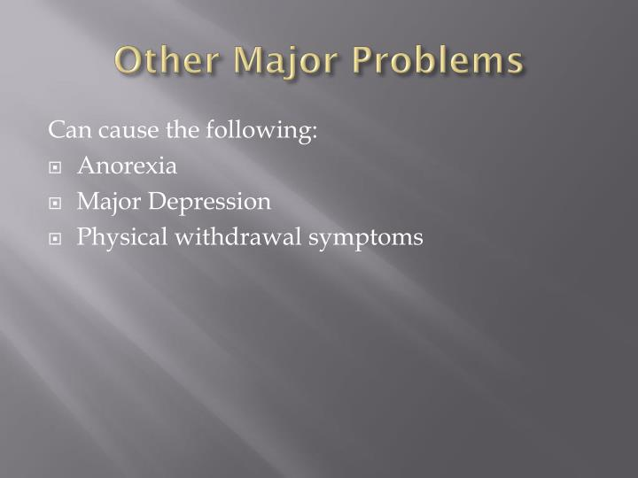 Other Major Problems