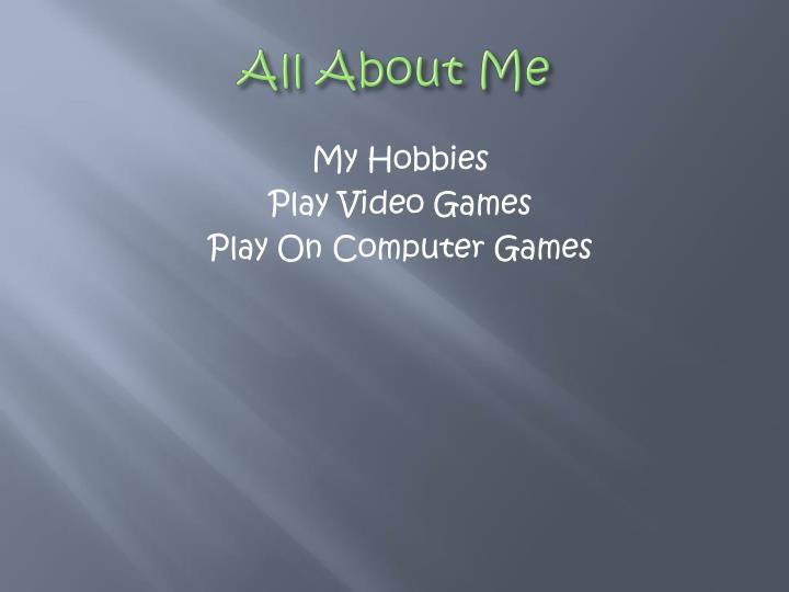 All about me2
