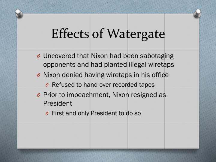 Effects of Watergate