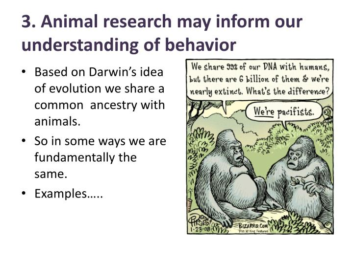 3. Animal research may inform our understanding of behavior