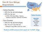 non bt corn refuge requirements