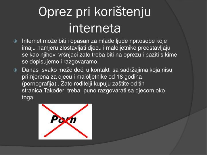 Oprez pri korištenju interneta