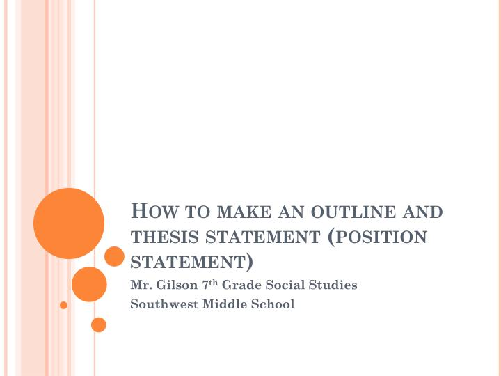 making statement thesis