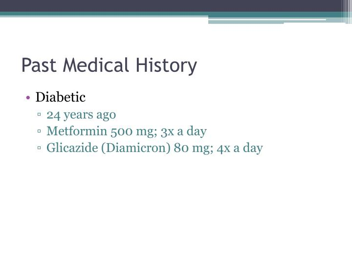 Past Medical History