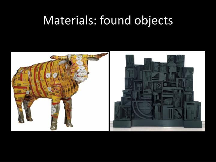 Materials: found objects