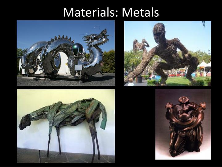 Materials: Metals