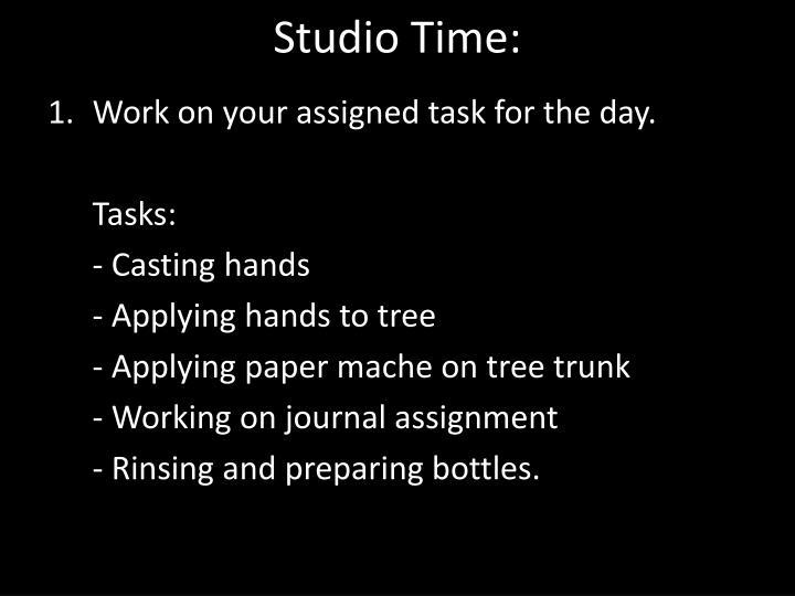 Studio Time: