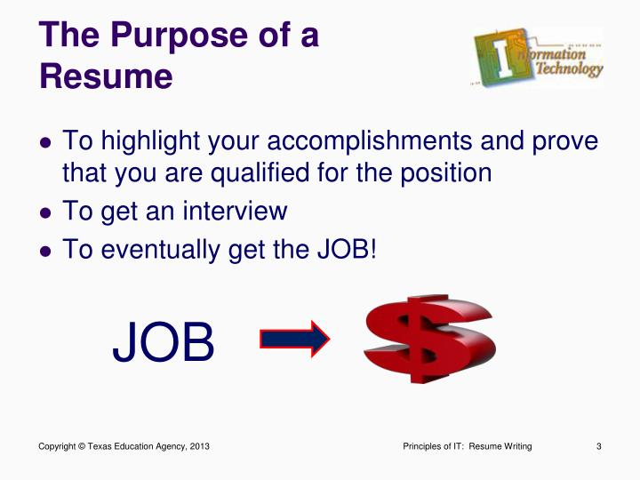 The Purpose of a Resume