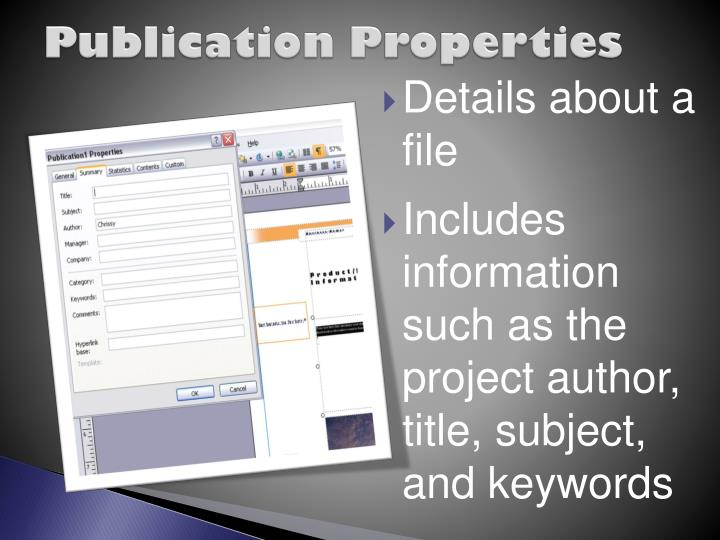 Publication Properties
