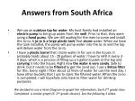 answers from south africa2