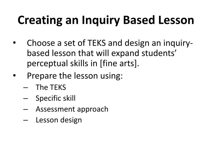 Creating an Inquiry Based Lesson