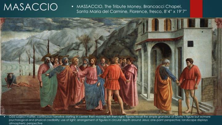 MASSACCIO, The Tribute Money,