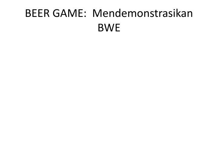 BEER GAME:
