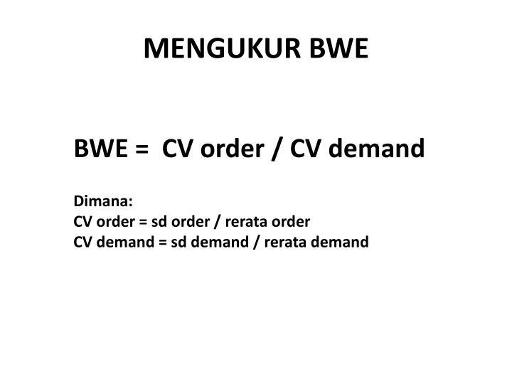 MENGUKUR BWE
