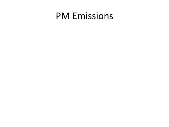 PM Emissions