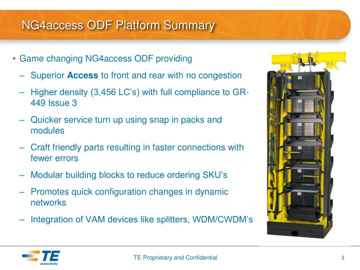 NG4access ODF Platform Summary