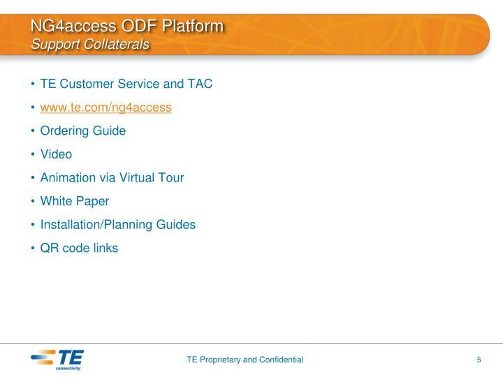 NG4access ODF Platform