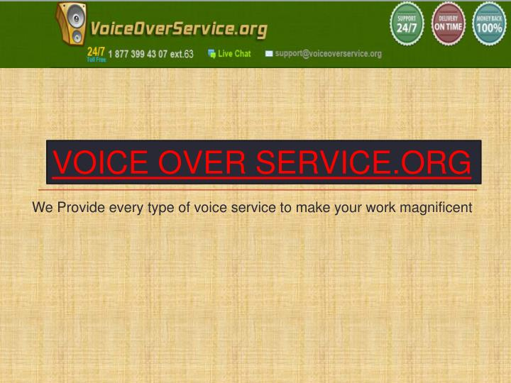 VOICE OVER SERVICE.ORG