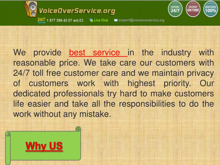 We provide