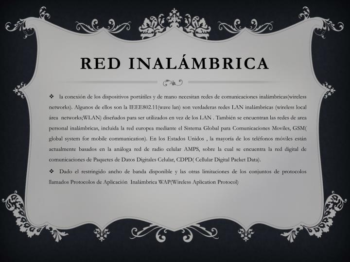 RED INALÁMBRICA