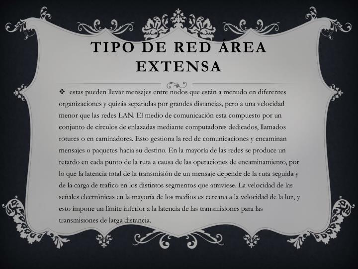 TIPO DE RED