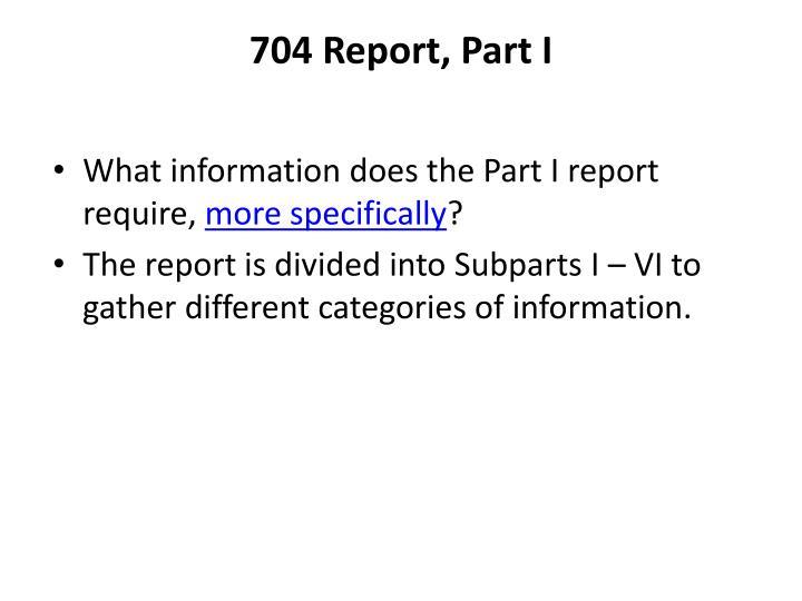 704 Report, Part