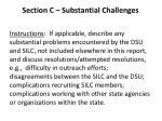 section c substantial challenges
