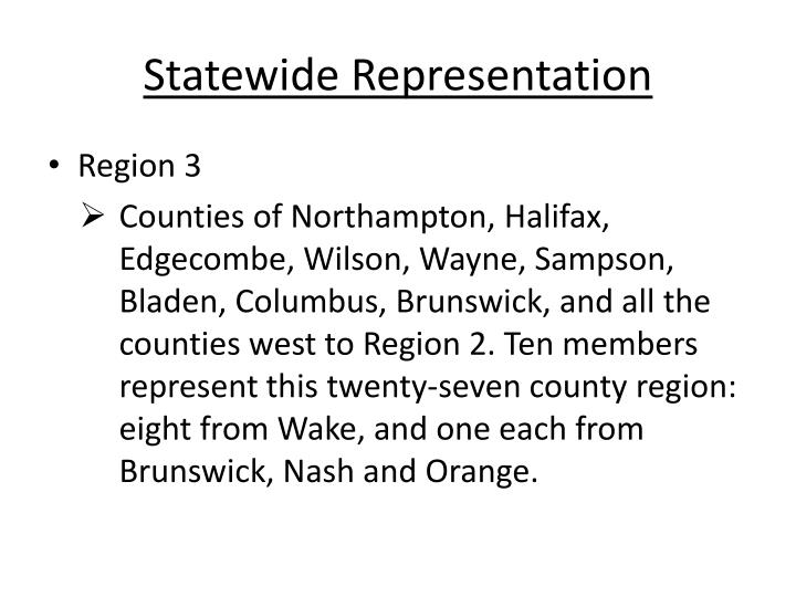 Statewide Representation