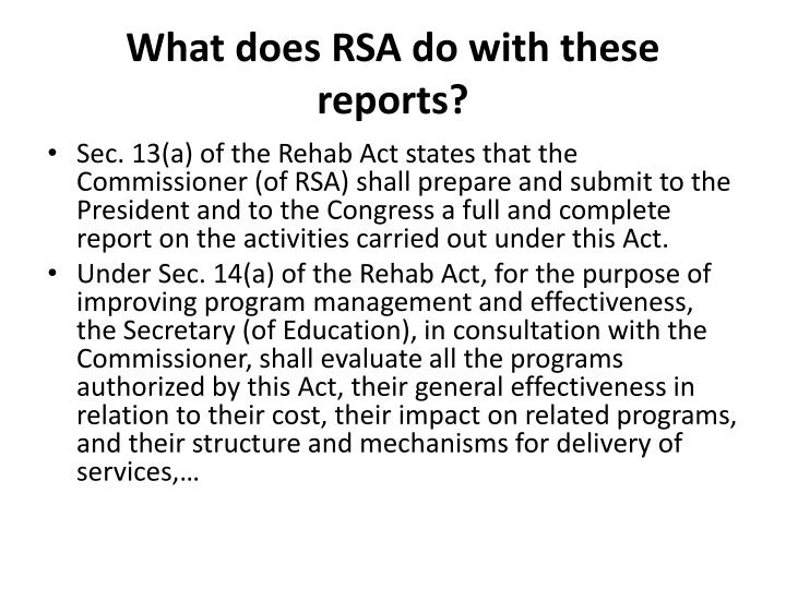 What does RSA do with these
