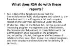 what does rsa do with these reports